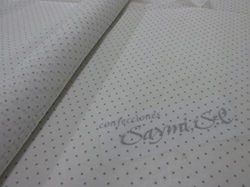 Confección Saymi Metraje 0,50 MTS Tela etamín Visillo Cortinas Ref. Plumeti Color Gris, con Ancho 2,80 MTS.: Amazon.es: Hogar