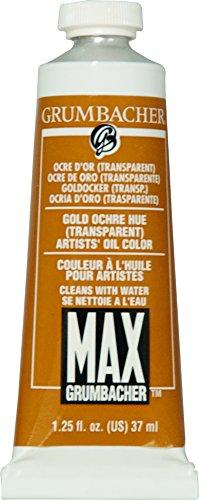 (Grumbacher Max Water Miscible Oil Paint, 37ml/1.25 oz, Gold Ochre Hue (Transparent))
