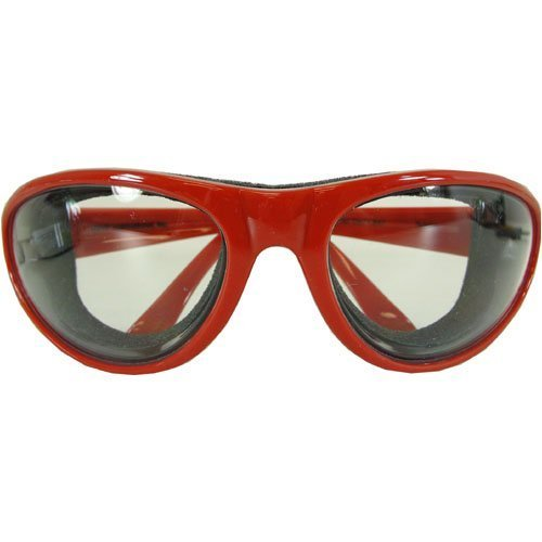 RSVP Tearless Kitchen Onion Goggles, Red