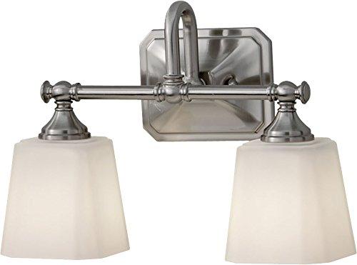 Feiss VS19702-BS Concord Glass Wall Vanity Bath Lighting, Satin Nickel, 2-Light (14