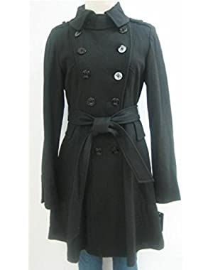 Guess Belted Wool Coat, Jacket, Black, X Large, Mw449