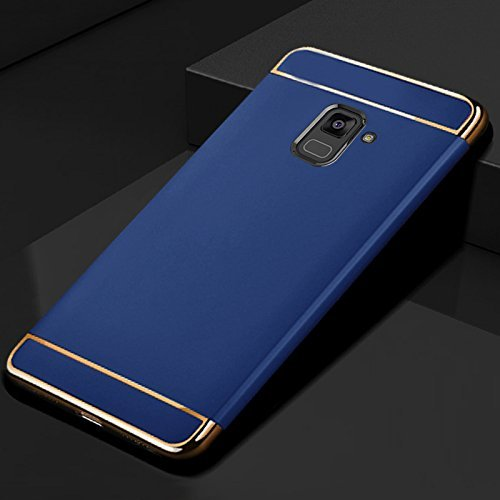 best loved 221ff e3c1e CASEROOT Samsung Galaxy J6 Super Cool Royal Electroplated 3 IN1 Matte Finis  Hybrid PC Hard Back Cover- Blue