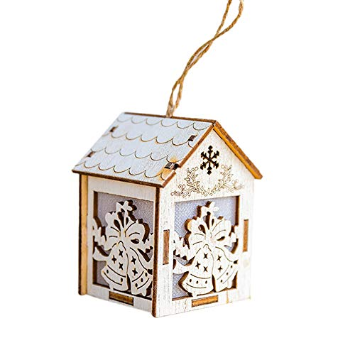 Indoor/Outdoor Letter Hanging Merry Christmas Wooden Sign to Celebrate The Holidays Wooden Wall & Door Decoration Christmas Decoration (Khaki -C)