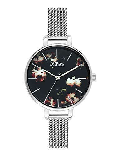 s.Oliver Time Womens Analogue Quartz Watch with Stainless Steel Strap SO-3591-MQ