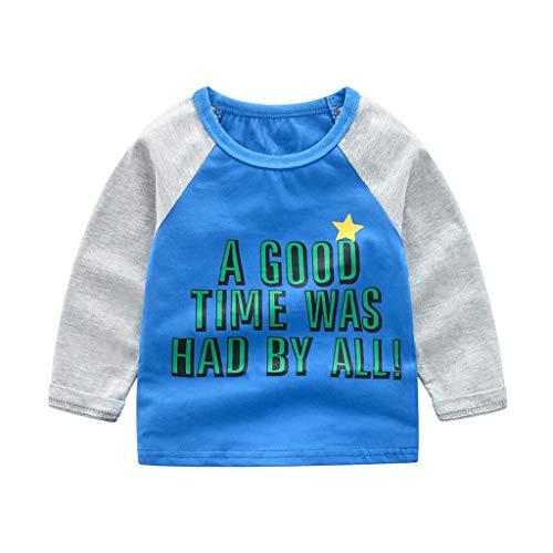 (Sayolala Kid Baby Boy Long Sleeve Cartoon Motorcycle Print Sweatshirt Tops Shirts Children Casual Outfits)