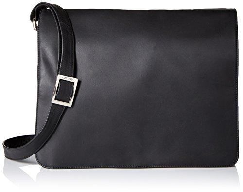 Visconti Womens Large Leather Flap-Over Shoulder/Crossbody Messenger