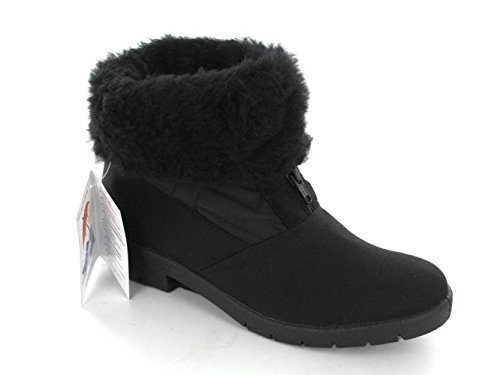 Mod Comfys NEVES Ladies Warm Lined Snow Boots Black rFbbP
