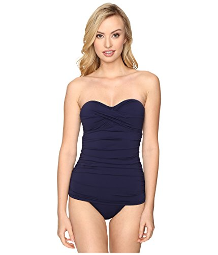 Tommy Bahama Women's Pearl Twist-Front Bandeau One-Piece Swimsuit Mare Navy Swimsuit by Tommy Bahama