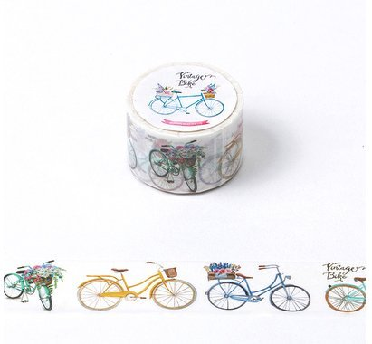 Bblythe 3 Pieces Washi Tapes for Notebooks, DIY Crafts and Gift Colorful Tape Decorative Tape Notebook Adhesive Tape ( Japanese Masking Tape ) Masking Tape Low Tack , Bicycle , Clip , Ship
