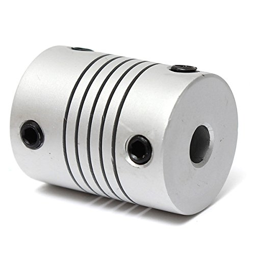5mm x 5mm Aluminum Flexible Shaft Coupling OD19mm x L25mm CNC Stepper Motor Coupler Connector SINGLE ITEM by MAUBHYA (Image #3)