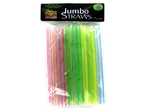 Bulk Buys HT857-100 Jumbo Straws