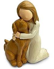 Dog Angel Figurines, Angel Dog Friendship Memorials for Dog Lovers