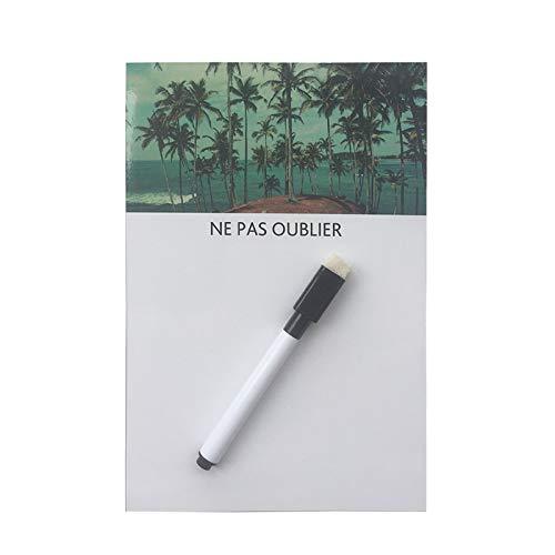 (Huyenkute Beach Printed Dry Erase Flexible Fridge Magnets Whiteboard/Message Board/Memo Pad/Dialog Box Magnet)