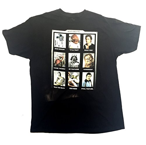 Yearbook Pictures - Star Wars Most Likely To T-Shirt Disney Movie Yearbook Photo Funny Pictures (Large)