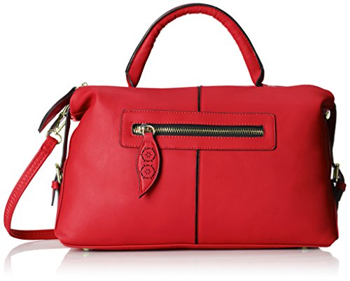 MG Collection Alaia Bowling Shoulder Bag Red One Size
