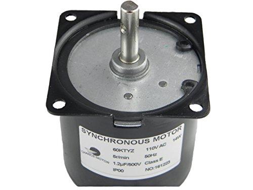 CHANCS 60KTYZ Synchronous Gear Motor AC 110-130V 5/6r/min CW/CCW Control -