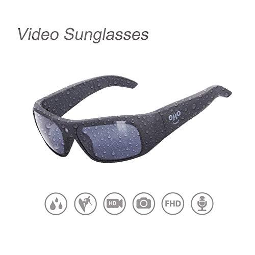 OhO sunshine Waterproof Video Sunglasses,32G Ultra 1080P HD Video Recording Camera Polarized UV400 Protection Safety Lenses,Unisex Design by OhO sunshine