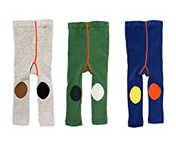 Losorn Toddler Baby Boys Girls Legging Pants 3 Pack Cotton Tights Knit Panties Multicolor 3T/4T