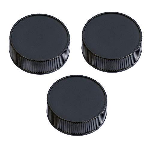 (3 Packs) Fotasy Rear Lens Cover Cap for Leica M Lens, Leica M Lens Rear Cap