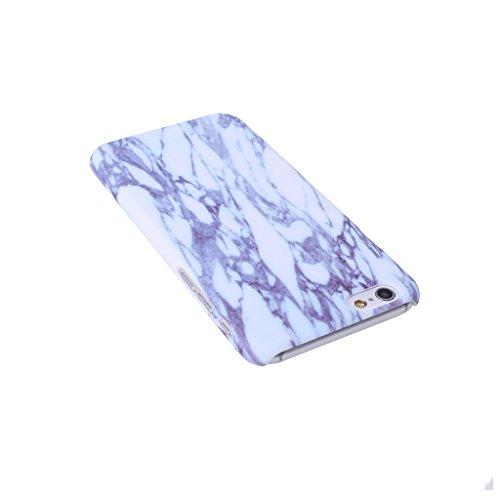 iPhone 6 / 6S Carcasa Cover, IJIA Ultrafino Corea Diseño Natural Mármol Negro PC Plástico Duro Funda Carcasa Tapa Caso Parachoques Cubierta para Apple iPhone 6 / 6S 4.7 + 24K Etiqueta Engomada color-HD7