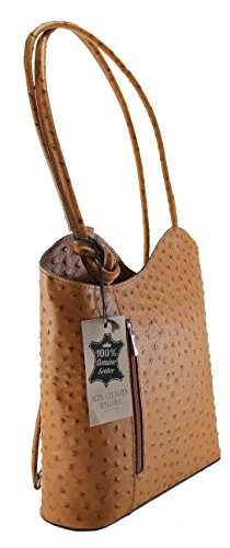 Italy Genuine Leather Made Shoulder Women's Bag CTM in 28x30x9cm Ostrich 100 Leather Leather BPgxqw0nTf