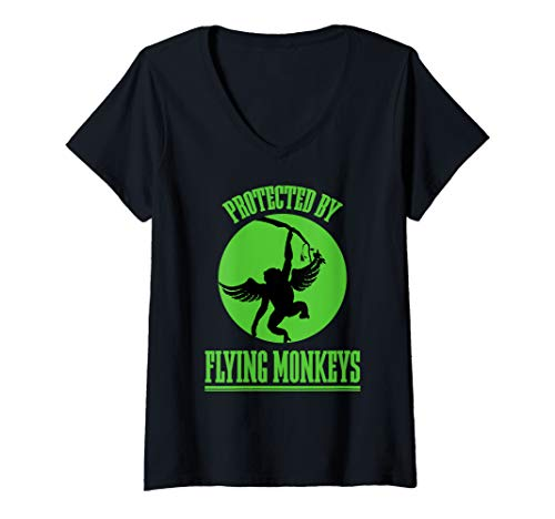 Womens Wicked Witch Get My Flying Monkeys Wizard of OZ V-Neck T-Shirt]()