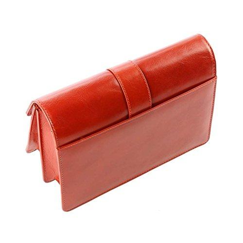 Tk115 Orange Bag Man Handbag Leather Camel qqXUfw