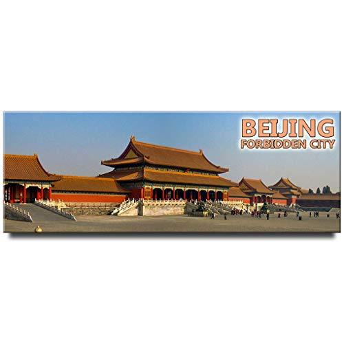 Forbidden city panoramic fridge magnet Beijing China travel souvenir