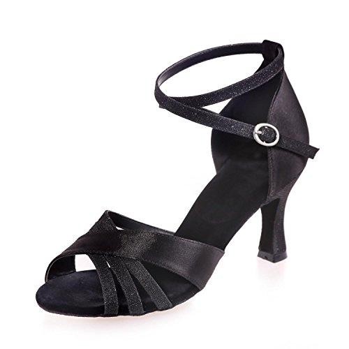 Cuir Avec High Heel Danse Black Latin yc Personnalisable Femmes Chaussures Multicolore L Brown w0THFqS