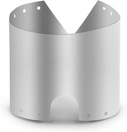Lixada Pantalla Protectora Ligera de Titanio para Estufa de Camping Resistente al Viento Ultrafino Accesorio para Hornillos