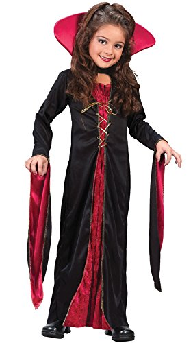 Fun World Victorian Vampiress Costume, Medium 8-10, Multicolor