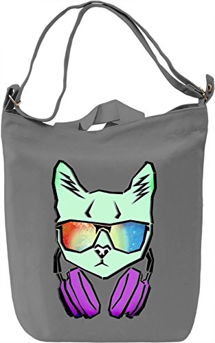 Cat With Galaxy Sunglasses Borsa Giornaliera Canvas Canvas Day Bag| 100% Premium Cotton Canvas| DTG Printing|