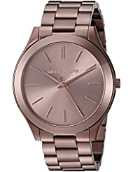 Michael Kors Womens Slim Runway Brown Watch MK3418