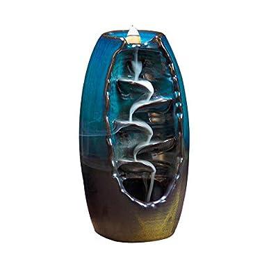 Milky Way Incense Holders Backflow Incense Holder Smoke Censer Incense Burner with 10pcs Backflow Incense Sandalwood Cones Home Decoration