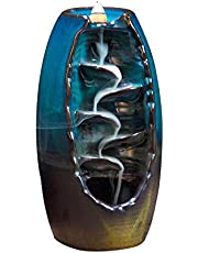 Quemador de incienso de reflujo de cerámica con 10 conos de incienso de reflujo