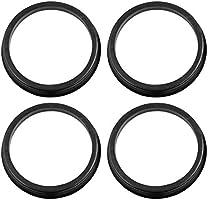X AUTOHAUX Car Hub Centric Rings Wheel Bore Center 73.1 to 57.1mm 4pcs Black Plastic