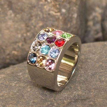 Hoshen Stones Judaica Ring 12 Tribes Of Israel Silver Color - Please send us a message with the required size.From 8 till 10.5 US Menorah Ring