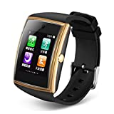 YWY Bluetooth Smart Watch Activity Tracker Support Camera NFC 1.54'' Touch Screen Smart Watch Pedometer Bracelet for Android iOS (Color : Gold)