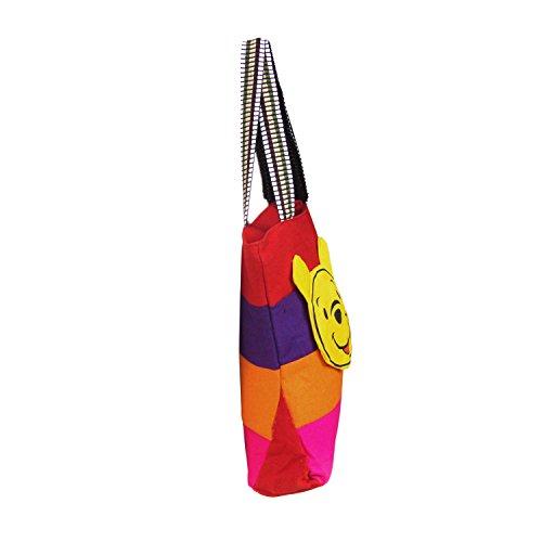Schöne Smiley Patch-Handwebstuhl Baumwolle Hochschule Nylon Griff Tasche