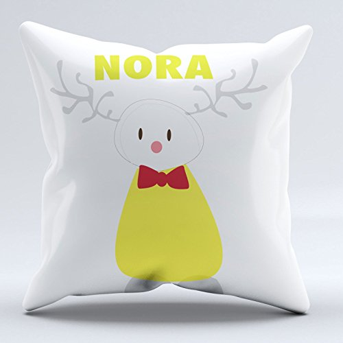 Personalized Rain Deer Holiday Cheer Baby/Toddler Pillow-Case available in Organic Cotton And Kona Cotton by Tinytweets