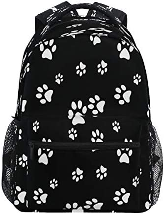 Vinlin Backpack Animal Puppy Paw Print,College School Shoulder Bag Travel Hiking Casual Daypack for Kids Girls Boys Woman Man