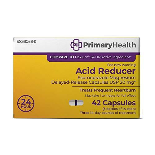 Primary Health Acid Reducer Esomeprazole Magnesium 20mg Dr Capsules, 42 Count -