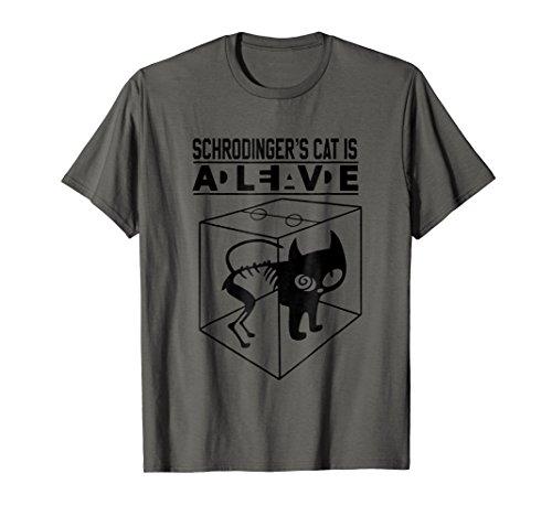 (Schrodinger's cat T-shirt Schrodingers cat tee)