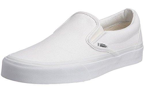 #Vans Classic Blanc Toile Unisex Slip-On Formateurs Chaussures