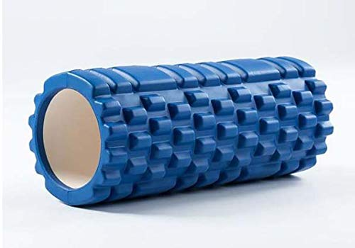 Schaumwalze Für Tiefe Muskel Massage, Um Die Genesung Ultra Leicht Hohl Kern Muskel Walze Für Home-Gym Pilates Yoga Atheletes Auslöser Punkt Walze 14 X 33 cm,Blau