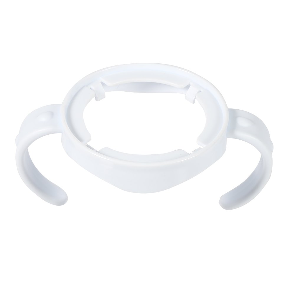 5 Packs Baby Feeding Nursing Bottle Holders Easy Grip Standard Plastic Handle for for AVENT Natural Series White Fdit