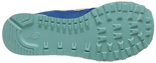 New Balance Donna Wl574 Winter Porto Pack Classico Sneaker Blu / Arancione