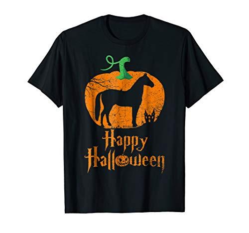 (HORSE In Pumpkin Happy Halloween T-shirt HORSE)