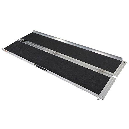 6' Non-Slip Portable Suitcase Design Wheelchair Ramp Folding Mobility Scotter Threshold Ramp Threshold Ramp ()