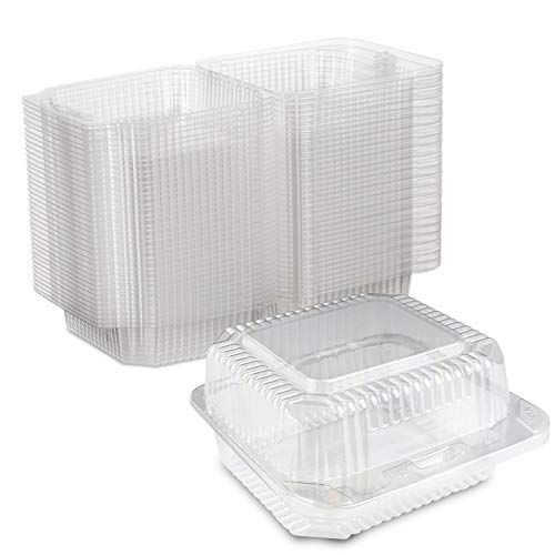 Clear Plastic Square Hinged